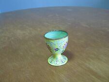 Vintage Handpainted Japanese Yellow Footed Porcelain Sake Cup