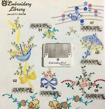 Flower & Ribbons  Embroidery Designs Card For Husqvarna Viking Machines