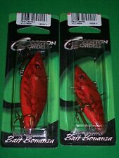 "Cordell Rattle Spot Rattle Trap - Red Crawdad 2.5"" &  3"" (2 Pk)"