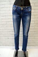 GUESS Donna Jeans Blu Slim Taglia 31 Pantalone Pants Woman Casual