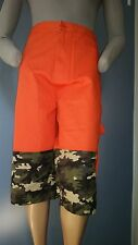 Men COOGI Shorts Size 50 Orange Top with Camouflage Bottom