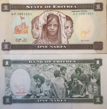 ERITREA 1997 1 NAKFA UNC BANKNOTE P-I WOMEN AND CHILDREN BUY FROM A USA SELLER !