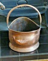 Vintage Copper Centurion Helmet Coal Scuttle Coal Bucket