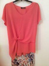 Womens Top Shirt a.n.a. A New Approach Macys Coral Peach M