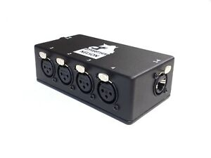 PhantomCat Snake System - 4ch etherCon to Female XLR Breakout Box