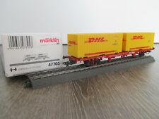 """Märklin 47705 CARRO CONTAINER LGNS 570 /""""DHL/"""" della DB AG #neu in OVP #"""