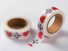 Ruban Masking Tape Coeurs Arc 15mmx10m MOD14 adhésif Scrapbooking Loisirs
