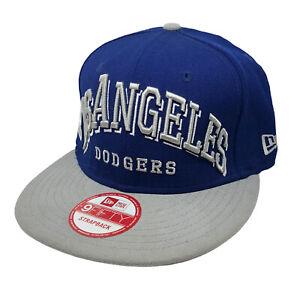 LA Los Angeles Dodgers MLB New Era 9FIFTY Adjustable Strapback Cap Blue/Gray NWT