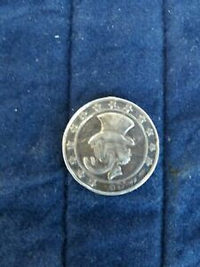 Extremely Rare! Walt Disney Sterling Silver Scrooge McDuck First Cent Coin 1947