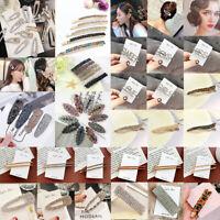 Cute Women's Girls Hair Clip Rhinestone Crystal Hairpin Barrette Slide Clip Grip