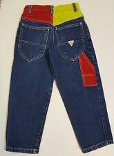 Vintage Guess Color Block Denim Jeans Toddler Kids Boy Size 4Y Painter Paints