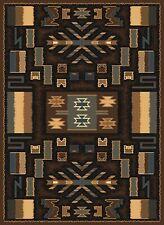 "SOUTHWESTERN brown area rug 6x8 rustic LODGE modern : Actual 5' 3"" x 7' 6"""