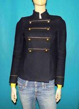 manteau court officier MAJE en laine melangé bleu marine taille 36