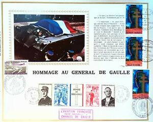 Aviation General de Gaulle France Sheet Philatelic CEF Ardennes 182E
