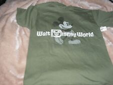 Men's Small or Medium Mickey Mouse Green Walt Disney World Tee Shirt Nwt