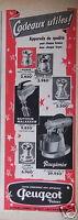 PUBLICITÉ 1956 CADEAUX UTILES APPAREILS PEUGEOT PEUGIMIX - ADVERTISING