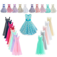 Kid Princess Party Tutu Dress Flower Girl Dress for Wedding Bridesmaid Prom Gown