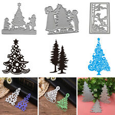 2Pc Christmas Tree Metal Cutting Dies Stencil Scrapbook DIY Card Embossing Decor