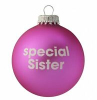 Lovely Xmas Gift Special Sister Pink Christmas Tree Bauble