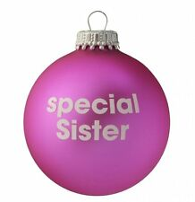 Special Sister - Pink Christmas Tree Bauble -  Lovely Xmas Gift
