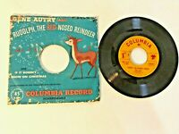 c1951 VTG Columbia Christmas Record 45 RPM Gene Autry Rudolph Red Nosed Reindeer