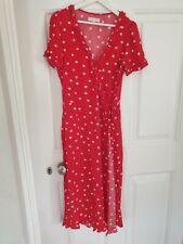 Vestido rojo del lunar de verano talla 12.