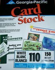 "Georgia-Pacific CARD STOCK - 150 sheets - 8.5""x11"" - White - NIP!"