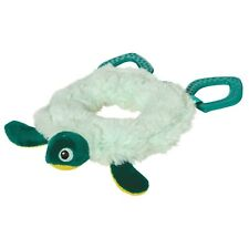 Manhattan Toy Theo Turtle Baby Toy Ring Rattle with Crinkle Paper, Teether