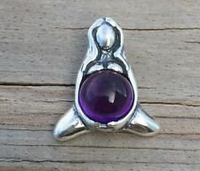 GODDESS of ABUNDANCE Pendant .925 Sterling Silver w/ Genuine Amethyst - Mother