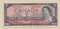 1954 $2 Bank of Canada Note Beattie Coyne P/B 8645031 - Fine