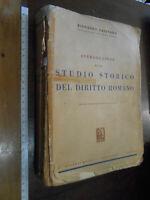libro : DIRITTO ROMANO 1961 di RICCARDO ORESTANO-dedica e autografo firma