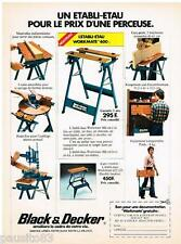 PUBLICITE ADVERTISING 095  1977  BLACK & DECKER L' établi  WORKMATE