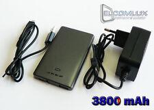 NEU & TOP Externer Akku, Externe Batterie 3800 mAh mit Micro USB für Motorola