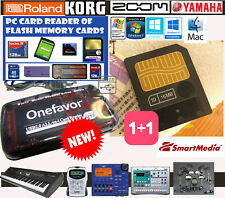 16MB SMARTMEDIA CARD+LETTORE MEMORIE FLASH-KORG-YAMAHA-ROLAND BOSS-AudiovoX-Zoom