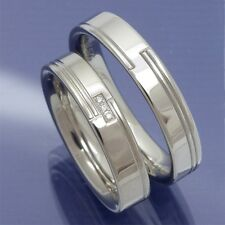 Verlobungsringe Trauringe aus platiniertem Silber mit Brillanten P9043072