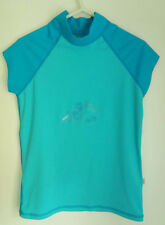 Women's Fat Face Active Wear Top - Gym Workout Sport Stretch Turquoise Size 12