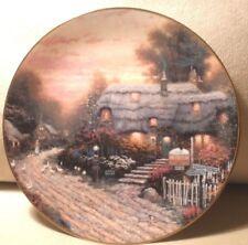 "Olde Porterfield Tea Room 8"" Plate Thomas Kinkade First Issue Hand-Numbered"