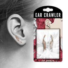 PAIR of Tribal Feather Ear Crawler / Climber 20g Earrings - choose color