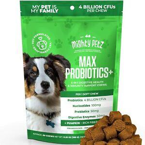 5-in-1 Probiotics for Dogs 4 Billion CFU Prebiotics Digestive Enzymes Nucleotide