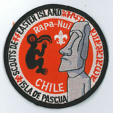 ASOCIACION DE GUIAS Y SCOUTS DE CHILE - CHILEAN EASTER ISLAND SCOUT PATCH ~ RARE