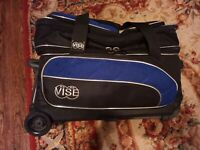 VISE Professional 2 Ball Roller Bowling Bag