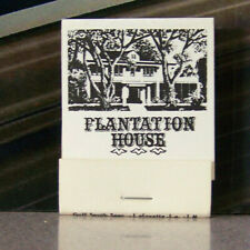 Vintage Matchbook A8 Lake Charles Louisiana Plantation House Crabmeat Imperial