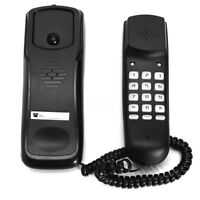 Black Wall Mount Home Corded Phone Telephone Business Home Office Desktop New