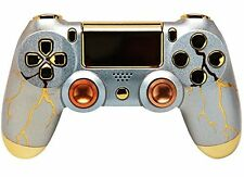 """""""Gold Thunder"""" Ps4 Rapid Fire Custom Modded Controller UNIQUE DESIGN!"""