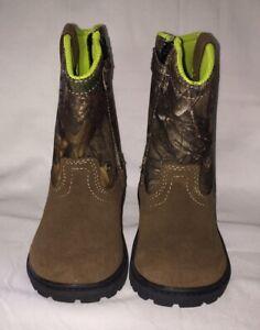 Magellan Outdoor Camouflage Brown Sz 7D Toddler Zipper Camo Hunting Boots