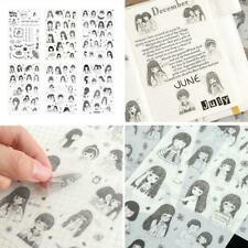 6pcs Cute Cartoon Girl Stickers Kawaii Stationery DIY Aufkl Scrapbooking X4C3