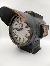 Horloge de gare projecteur type SNCF neuve aspect vintage murale ou a poser