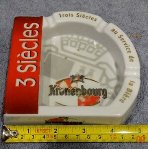 ASHTRAY COLLECTORS -  PLASTIC KRONENBOURG 'TROIS SIECLES' FRENCH LAGER BEER