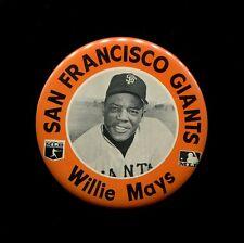 1960s Stadium Pinback WILLIE MAYS New York NY Giants Baseball Pin Button HOF
