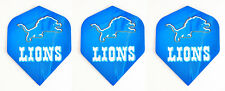 DETROIT LIONS NFL Football Standard Wide Size Dart Flights 1 set of 3 Flight